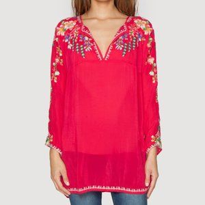 Johnny Was Vanessa Georgette Embroidered Tunic NWT